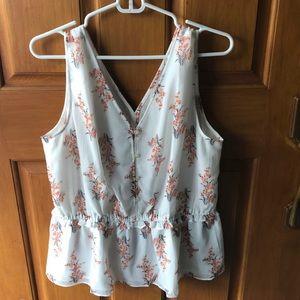 Ann Taylor Factory Flowered Sleeveless
